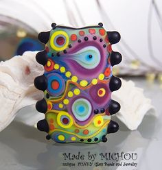 Soul to Soul  Art Glass focal bead by Michou P. by michoudesign, $45.00