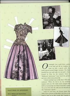 Black Brocade Lace and Pink satin Dress created by Elois Jennsen for Lucy. A personal favorite of hers, worn on set, and often in her personal life.