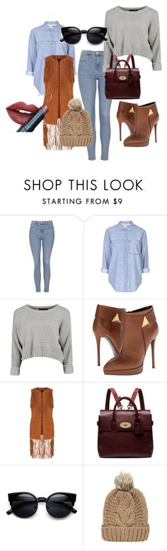 """""""Winter look"""" by dzenita-219 ❤ liked on Polyvore featuring Topshop, Giuseppe Zanotti, Oasis, Mulberry, Chicnova Fashion, Fiebiger, women's clothing, women, female and woman"""