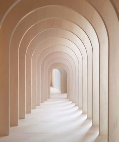 Light peach tan arches in hallway minimal architecture minimal photography – 2019 - Architecture Decor Minimal Architecture, Interior Architecture, Interior And Exterior, Arch Interior, Interior Painting, Diy Interior, 3d Interior Design, Drawing Architecture, Concept Architecture