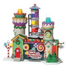 "Department 56: Products - ""Yummy Gummy Gumdrop Factory"" - View Lighted Buildings"