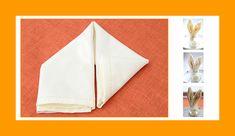 Servietten falten Hase Osterhase Ostern Tischdeko Napkins, Easter Bunny, Crafts, Easter Activities, Towels
