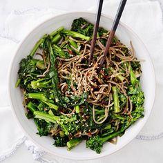 Rapini Noodle bowl today on #ahouseinthehills!  #vegan #gf