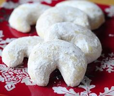 Vanilla Almond Crescent cookies--another delightful holiday cookie from Baking Bites sweet stuff wizard, Nicole Weston.