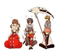 Tags: InuYasha, Higurashi Kagome, Ranma ½, InuYasha (Character), Tendo Akane, Saotome Ranma, Kyoukai no Rinne, Rokudou Rinne, Mamiya Sakura, Rokumon (Kyoukai no Rinne), 1000ch