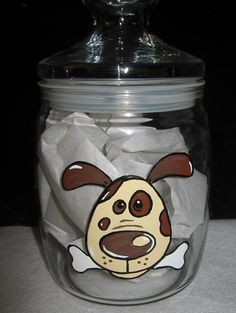 Charmed: Dog Treat Jar- i think i can paint this if i try hard enough LOL