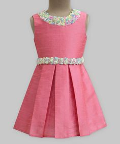 Rouge Mini Rose Garland Dress - Girls