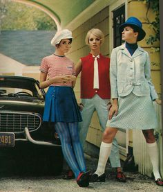 Seventeen Magazine, 1968. This is how you wear a knee sock!