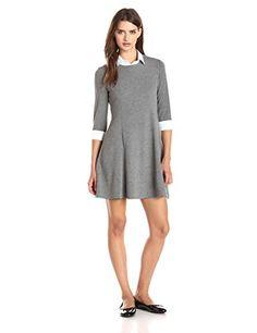 "Bailey 44 ""Viva"" Collared Long Sleeve Dress, Marengo - http://www.womansindex.com/bailey-44-viva-collared-long-sleeve-dress-marengo/"
