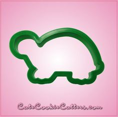 """2.25"""" x 4"""" Green Turtle Cookie Cutter"""