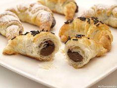 Mini croissants rellenos de chocolate, paso a paso - MisThermorecetas