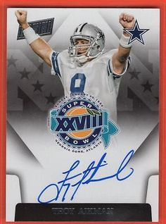 Football Cards 215: 2015 Panini Super Bowl Xxviii Troy Aikman Dallas Cowboys Auto Sbxxviii-Ta -> BUY IT NOW ONLY: $149.99 on eBay!