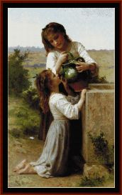 At the Fountain - Bouguereau Cross Stitch Pattern by Cross Stitch Collectibles
