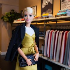 Visiting the close-knit team at Inspired by all of the amazing work they are doing. Barbie Life, Barbie World, Barbie And Ken, Barbie Style, Vintage Barbie Clothes, Doll Clothes, Barbie Fashionista Dolls, Painted Denim Jacket, Barbie Friends