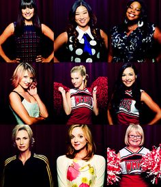 Women of GLEE...@Sara Miller thought you would like this :)