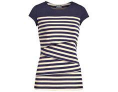 striped nursing top at milk nursingwear | baby shower gift guide