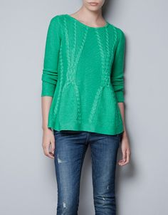CABLE KNIT SWEATER - Knitwear - TRF - ZARA United States $49.90