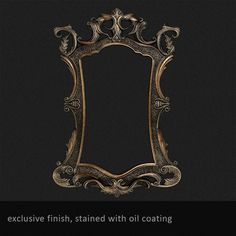 Wooden carved mirror frame Oculus horror Replica