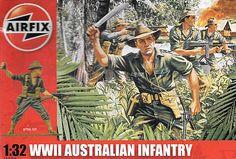 AIRFIX AUSTRALIAN INFINTRY WWII 1/32, OPEN BOX, UNOPENED SEALED BAG #Airfix