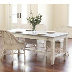 Zinc top farm table