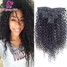 Find More Clips In Hair Information About Top Grade Brazilian Virgin Kinky Curly Clip Extensions Human For Black Women