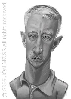 Anderson Cooper Caricature by Jon Moss Caricature, via Flickr