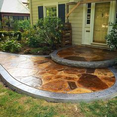 Beautiful stamped concrete project from Keim Concrete. It looks like Flagstone! http://www.keimconcrete.com/