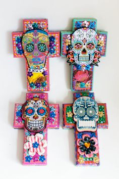 Mexican Sugar Skull crosses the virgin rose