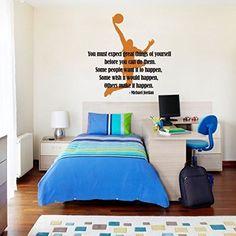 MairGwall Sport Decal Basketball Action - Michael Jordan Dunking Ball into the Net Teen Boy Room Art Graphics (Medium,Player-Dark Yellow; Words-Black), http://www.amazon.com/dp/B0171ZLHYE/ref=cm_sw_r_pi_awdm_x_YeUaybVQKMDAT