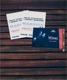 movie inspired wedding invites | VIA #WEDDINGPINS.NET