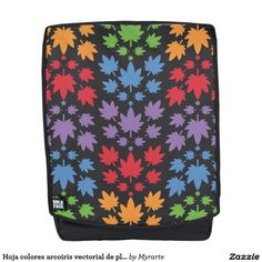 Hoja colores arcoiris vectorial de planta. Plant. Cannabis. Producto disponible en tienda Zazzle. Accesorios, moda. Product available in Zazzle store. Fashion Accessories. Regalos, Gifts. Link to product: http://www.zazzle.com/hoja_colores_arcoiris_vectorial_de_planta_plant_backpack-256734358829883249?CMPN=shareicon&lang=en&social=true&rf=238167879144476949 #mochila #backpack #marihuana #cannabis