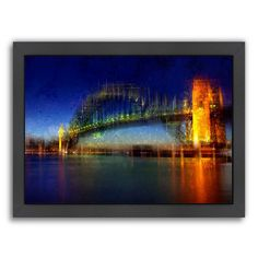 Americanflat City Art Sydney Framed Wall Art, Multicolor