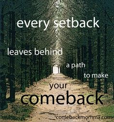 Every setback leaves a path to make a comeback. #motivation #quotes #fitness