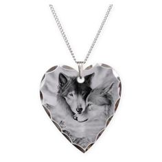 Wolf Necklaces ❤ liked on Polyvore featuring jewelry, necklaces, wolf jewelry and wolf necklace