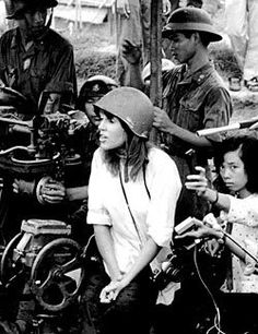 July 1972 Jane Fonda visits North Vietnam during Vietnam War allegedly giving aid and comfort to the enemy... many Americans consider her a traitor