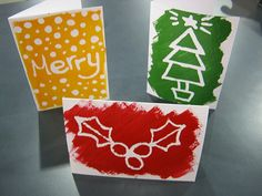Crafted: How to: Masking fluid Christmas cards Winter Christmas, Christmas Crafts, Christmas Ideas, Childrens Christmas, Christmas Wonderland, Kids Learning Activities, Fun Projects, Masking, Arts And Crafts