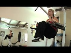 ▶ Exercises on a Vertical Knee Raise & Dip Station Power Tower : Personal Fitness - YouTube