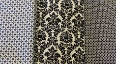 Black and white fabric, Jo Ann Fabric, 3 and 1/4 yard in total, 3 pieces Juniper Lane AZ on Etsy