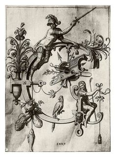 "johann theodor de bry - letter ""G"" neiw kunstliches alphabet 1595"