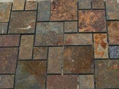 crazy paving slate on mesh, slate french pattern on mesh, slate ashlar pattern on mesh Stone Cladding, Wall Cladding, Slate Stone, Stone Tiles, Ashlar Pattern, Cobblestone Pavers, Stone Wall Panels, Outdoor Pavers, Wall Fires