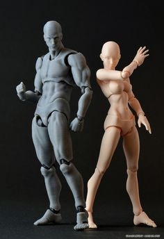 Figma - Figma Archetype Next : He - Flesh color ver. action figures that fit any pose. Figure Drawing Reference, Body Reference, Anatomy Reference, Photo Reference, Design Reference, 3d Figures, Action Figures, Character Poses, Character Design