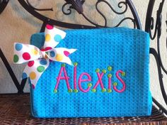 Personalized Monogrammed Cosmetic Bag or Pouch by monogrammaker, $16.00