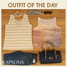 Everyday is an occasion...get dressed for it... #FashionForGirls #OutfitOfTheDay #Kapsons #TankTops #RuggedDenim