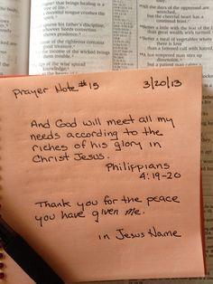 Prayer Note #15