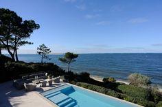 vue bassin d'Arcachon- maison de luxe bassin d'Arcachon- piscine miroir à débordement-