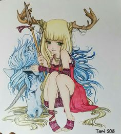 done with polychromos pencils from manga pop by camilla derrico coloring bookscolouringcalmpencil - Manga Coloring Book