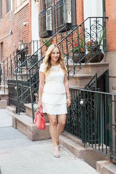 White Scalloped Dress.