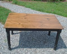 black and pine farmhouse table - Google Search