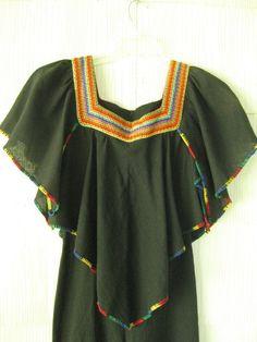 VINTAGE 70s gauze rainbow bell bottom by squashblossomvintage, $68.00