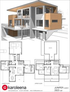 Check out these custom home designs. View prefab and modular modern home design ideas by Karoleena. Check out these custom home designs. View prefab and modular modern home design ideas by Karoleena. Modern House Plans, Modern House Design, House Floor Plans, Villa Design, Custom Home Designs, Custom Homes, Custom Design, Prefab Homes, Home Design Plans